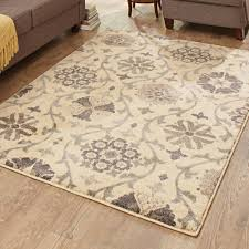Plastic Carpet Runner Walmart by Better Homes And Gardens Cream Floral Vine Area Rug Walmart Com