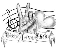 music love and peace tattoo design photo 2 real photo pictures