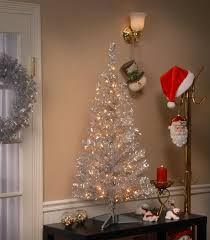 the aisle tinsel trees 4 silver artificial tree