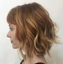 red brown long angled bobs 50 gorgeous wavy bob hairstyles with an extra touch of femininity