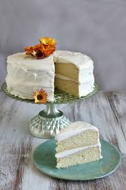 simple layer cake with vanilla frosting culinary covers