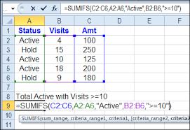 excel sumifs sum with multiple criteria contextures blog