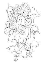 dragon ball z kai coloring page free download