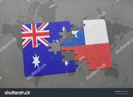 Chile Santiago Flag Puzzle National Flag Australia Chile On Stock Illustration