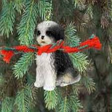 shih tzu puppy cut miniature ornament black