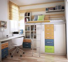 bunk bed with closet at bottom as holder of the bunk bed with