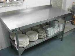 Outdoor Stainless Steel Tables - Commercial kitchen stainless steel tables