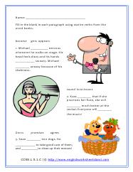 stative verb worksheets