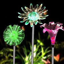 multi colored solar garden lights solar garden lights 3 pack solar powered garden stake lights with