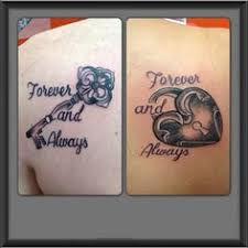 key and locket his and hers couple tattoos description from