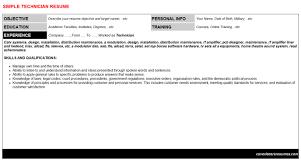 access technician level resumes u0026 cover letters