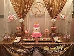 dessert table backdrop sequin backdrop gold 2ftx3ft shimmer fabric