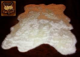 Faux Fur Throw Rugs Fur Accents Alaskan Polar Bear Area Rug Thick Off White Shag