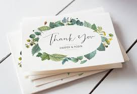 wedding thank you note easy wedding thank you card wording