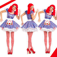 Ladies Clown Halloween Costumes Cheap Ladies Clown Fancy Dress Aliexpress