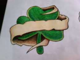 nice banner on shamrock tattoo design by artisticjayj