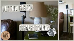 diy home decor industrial speaker stands youtube