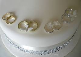 ring cake topper gold or silver wedding rings cake decoration x 2 ebay