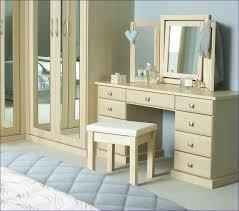 Bedroom Makeup Vanity Bedroom Awesome Mirrored Dressing Table Set White Makeup Vanity
