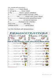 14 free esl demonstrative adjectives worksheets