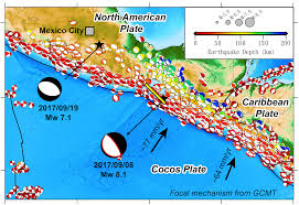 map central mexico m 7 1 earthquake strikes central mexico earth observatory of