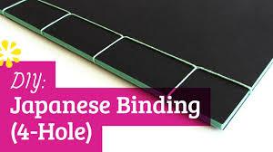 diy japanese bookbinding tutorial 4 hole sea lemon youtube