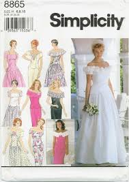 wedding dress patterns to sew simplicity 8865 misses wedding bridal two gown skirt top