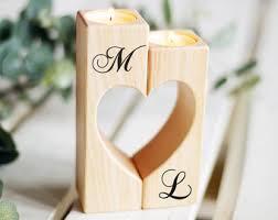 wedding gift holder wooden candle holder rustic candle holder wedding gift