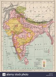 India States Map British India 1857 Independent Kashmir Protected States Yellow