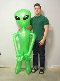 1 new inflatable green alien 60
