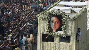 indian film gani thousands say goodbye to bollywood star sridevi cnn video
