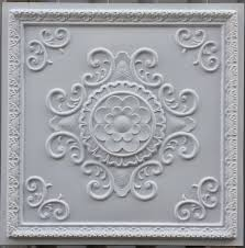 PL08 faux tin ceiling tiles white matt color three dimentional 3D