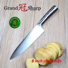 sharp kitchen knives grandsharp 8 inch chef knife german high carbon stainless steel
