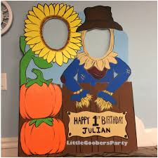 fall photo booth prop foam board personalized scarecrow