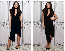 necklace collar dress images Copy shay mitchell 39 s sultry black dress and matching collar jpg