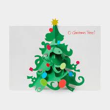 o christmas tree holiday cards moma design store