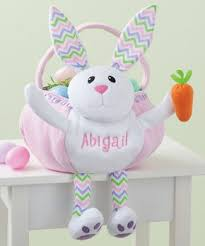 personalized easter bunnies easter basket personalized zulily