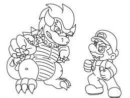 bowser mario coloring pages coloring home