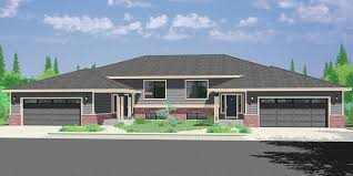 split level ranch house duplex house plans split level duplex house plans d 492