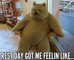 rest day got me feelin like fitness humour meme funny pins
