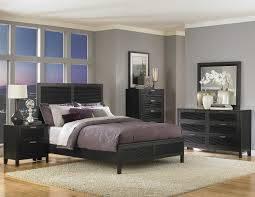 Grey Gloss Bedroom Furniture Turin Light Grey And Black Lacquer Gallery Bedroom Set Images