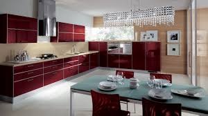 Red Kitchen Cabinets Furniture Cool Scavolini Kitchens With Red Kitchen Cabinet And