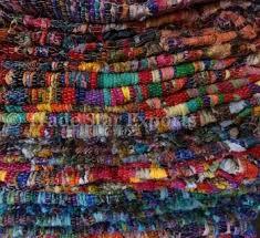 handloom vintage rug handmade indian dhurrie hand woven chindi