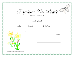 baptism template certificate pdfs baptism