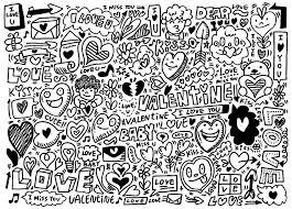doodle love valentine s day doodling doodle art coloring