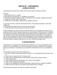 article cover letter cover letter critique cover letter sle
