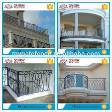 Decorative Iron Railing Panels Yishujia Factory Veranda Iron Railing Wrought Iron Stair Railing