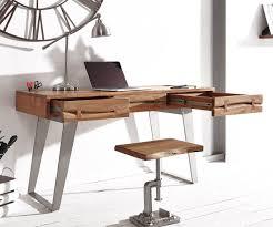Schreibtisch Schreibtisch Live Edge 137x56 Cm Akazie Natur Baumkante Möbel