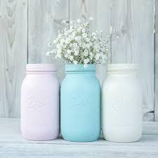 pink kitchen canister set painted jar canister set jar from kastylesmasonjars