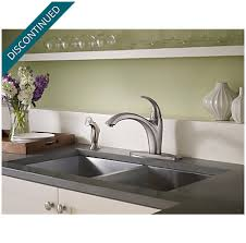 pfister selia kitchen faucet stainless steel selia 1 handle kitchen faucet f 034 4sls